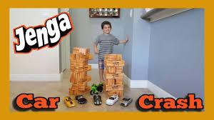 GIANT JENGA XL CardBoard Block Family Fun Games For Kids CAR CRASH