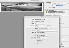 Black And White Panoramic Print Settings
