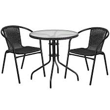 Flash Furniture 28'' Round Glass Metal Table With Dark Brown Rattan Edging  And 2 Dark Brown Rattan Stack Chairs Jack Daniels Whiskey Barrel Table With 4 Stave Chairs And Metal Footrest Ask For Freight Quote Goplus 5 Pcs Black Ding Room Set Modern Wooden Steel Frame Home Kitchen Fniture Hw54791 30 Round Silver Inoutdoor Cafe 0075modern White High Gloss 2 Outdoor Table Chairs Metal Cafe Two Stock Photo 70199 Alamy Stainless 6 Arctic I Crosley Kaplan 4piece Patio Seating Oatmeal Cushion Loveseat 2chairs Coffee Rustic And Pieces Glass Tabletop Diy Patterns Pads Brown Tufted Target Grey
