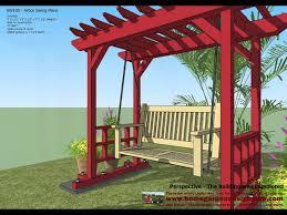 sw100 arbor swing plans construction garden swing plans