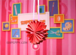 Flower Crafts Project Ideas Online Easy Paper Craft Instruct Loop Spring For Toddlers