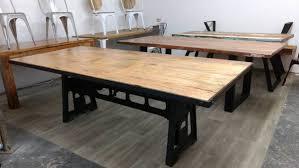 esstisch esszimmer tisch massiv holz mango industrial design dining crank table