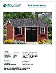 backyard shed plans 10 x 16 reverse gable roof style design