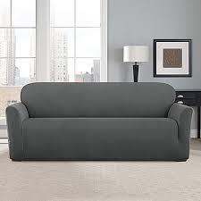 sure fit modern chevron sofa slipcover bed bath beyond