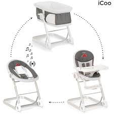 chaise 3 en 1 chaise haute icoo grow with me 1 2 3 poussette