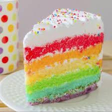 knalliges farbspektakel sahnige regenbogentorte mit verschiedenen teigschichten 4 3 5