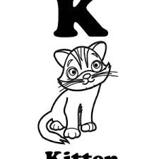 Letter K Is For Kitten Coloring Page