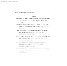 Resume With References Example Sample Reference Page For