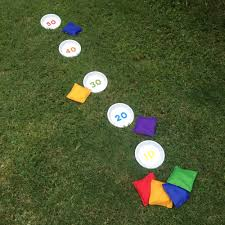 Inspired By A Childhood Game I Created DIY Bean Bag Toss Using Clay Saucers