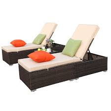 Do4U 3 Pcs Outdoor Chaise Lounge - Easy To Assemble - Thick & Comfy Cushion  Wicker Lounge Chairs Include 1 Table And 2 Chaise Lounge- (Mix ... Amazoncom Wnew 3 Pcs Patio Fniture Outdoor Lounge Stark Item Chaise Chair Brown Festival 2pcs Patiorama Adjustable Pool Rattan With Cushion Espresso Pe Wickersteel Frame Christopher Knight Home 80x275 Green Pads For Chairs Set Of 2 Gojooasis Recliner Styles Biscayne Huyya Lounges Sun Outmax Wicker Folding Back Footrest Durable Easy Carry Poolside Garden 14th Mobility Armrest Chair Staggering Medium Pc