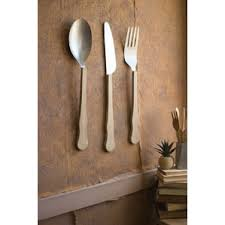 Wooden Fork Spoon Knife Wall Decor by Big Fork And Spoon Wall Decor Wayfair
