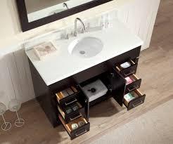Single Sink Bathroom Vanity by Ariel Stafford 49 Inch Single Sink Bath Vanity Set In Dark Brown