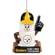 View Larger Image Of Pittsburgh Steelers Logo Smores Holiday Christmas Tree Ornament
