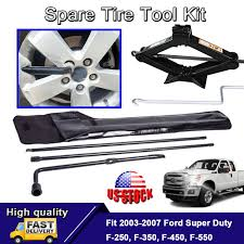 100 Oem Truck Accessories Jack And Tool Kit For F250 Super Duty F350 Oem Spare Tire Extension
