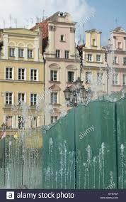 100 Poland Glass Fountain In Market Square Wroclaw Stock Photo