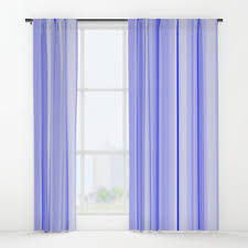 Blue Vertical Striped Curtains by Cobalt Window Curtains Society6