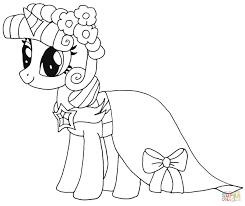 Coloriage My Little Pony Princesse Twilight Beau Coloriage My Little