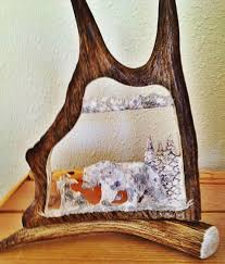 Moose Shed Antler Forums by Antler Carving Moose Antler Carvings Antler Art Moose Carvings