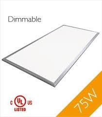 4x8 Ceiling Light Panels by Troffer 2 U0027x4 U0027 75 Watt Ul Led Panel Light Dimmable Cool White