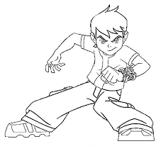 Ben 10 Coloring Pages Tennyson