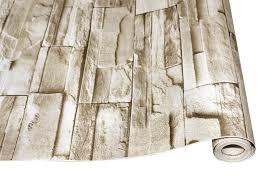stein schälen und stick tapete faux ziegel vinyl selbst