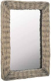 festnight spiegel korbweide badezimmerspiegel wandspiegel wohnzimmer spiegel mit rahmen badspiegel schlafzimmer spiegel spiegel flur
