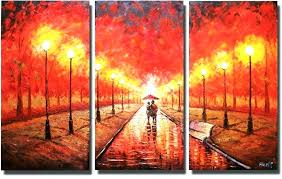 Framed Art Set Of 3 Piece Canvas Wall Home