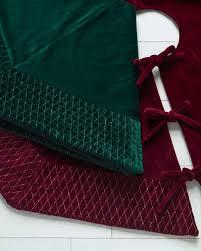 72 Inch Christmas Tree Skirt Pattern by Florentine Quilted Velvet Tree Skirt Balsam Hill