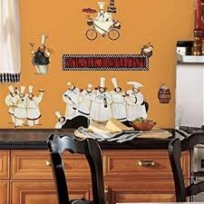 Italian Decor For Kitchen With Chef Fat Wall Decals