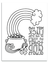 Free Printable St Patrick Day Coloring Pages Special Offer Sheets I Should Be