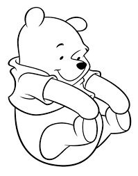 Cutest Winnie The Pooh Coloring Page