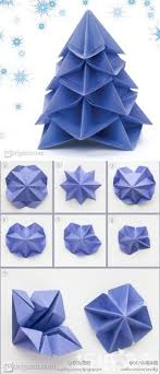 How To Make Paper Craft Origami Christmas Trees Step By DIY Tutorial Instructions
