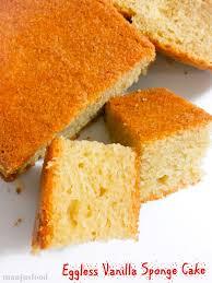 Manju s Food Eggless Vanilla Sponge Cake