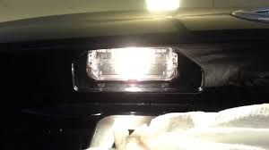 2013 toyota camry le checking new license plate light bulbs