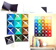 Homemade Wall Art Decor Easy Designs Paper Folded Simple Decoration Ideas With