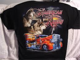 100 Truck To Trucker SEMI TRUCK TRUCKER WOLF AMERICAN RIDERS T SHIRT SHIRTin TShirts