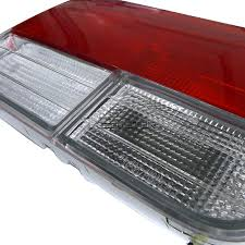 for 1992 1993 honda accord 4dr tail lights red clear depo ebay