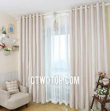 Primitive Curtains For Living Room by Beige Simple Living Room Primitive French Cotton Linen Curtains
