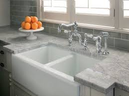 light grey countertop with subway tile kitchen ideas