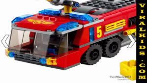 100 Lego Cement Truck LEGO City Airport Fire 60061 Toys Review Video Dailymotion