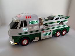 100 Hess Truck Toy 2016 Semi Race Car Dragster Hauler With Car Lights Sound