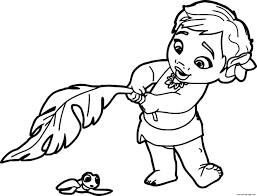 Print Baby Moana Princess Disney Coloring Pages