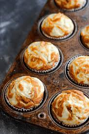 Pumpkin Cream Cheese Swirl Muffins In A Muffin Pan