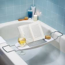 Bamboo Bathtub Caddy With Reading Rack by Bath Tray Caddy Cintinel Com