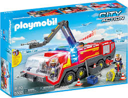 100 Playmobil Fire Truck Amazoncom PLAYMOBIL Airport Engine With Lights Sound