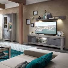 wohnzimmer set marinda in beton grau 3 teilig