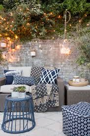 outdoor string lights gather the inspired room