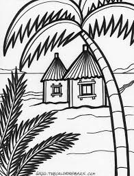 Island Coloring 6 1000x1315 Pixels Beach House