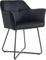 esszimmer armlehnstuhl samt schwarz metallbeine schwarz kirin