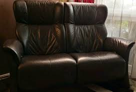voll leder sofa 2 sitzig 3 sitzig tabac hoher np möbel höffner